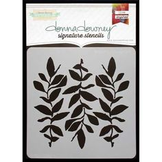 Donna Downey Signature Stencils - Leaf Stem Trio [DD-045]