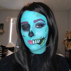 Day 24 Comic Book Zombie 💀 @mehronmakeup paradise paints, @bhcosmetics matte shadows, @ardell_lashes , @narsissist eyeliner, @maybelline mascara, @katvondbeauty tattoo liner in Trooper, @sephora cream lip stain 💀 #skullandglossbones #makeup #facepaint #halloween #october #31daysofmehronhalloween #31daysofhalloweenmakeup #comicbookzombie #comicbookzombiemakeup #mehronmakeup #bhcosmetics #ardelllashes #narscosmetics #maybelline #katvondcosmetics #katvondbeauty #sephora 💀