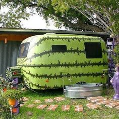 Watermelon camper!!  Nice paint job :-)
