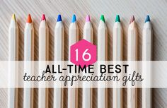 We're sharing the absolute best DIY teacher gifts for Teacher Appreciation Week or the end of the school year. Need a last-minute gift card printable? Want to make a thoughtful personalized gift? You'll find totally doable teacher gift ideas that teachers will love.