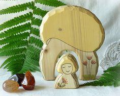 Wooden toy waldorf  AUTUMN nature table decoration  by Rjabinnik, $16.90