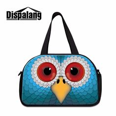 49.99$  Buy here - http://alirkr.shopchina.info/go.php?t=32779408511 - Dispalang Large Capacity Travel Duffel Tote Bags Cool Workout Duffle Bags For Men Owl 3D Print Travel Bag+Independent Shoe Bit 49.99$ #aliexpresschina