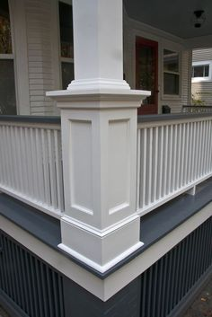 Faithful porch design ranch call to action ideas Front Porch Posts, Front Porch Railings, Front Porch Pillars, Veranda Railing, Front Porch Deck, Porch Wood, Deck Posts, Side Porch, Porch Railing Designs