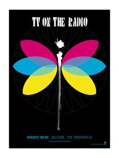 TV on the Radio / Grizzly Bear - Dragonfly Gig Poster