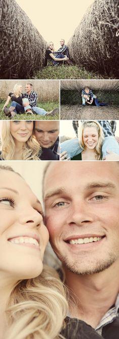 sweet and stylish farm wedding engagement photo shoot by Anna Jaye Photography