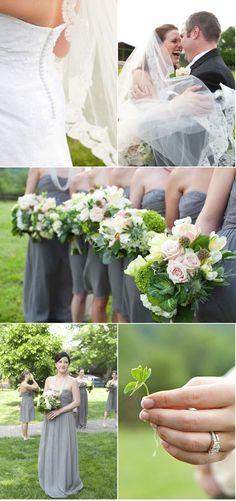 green and gray wedding