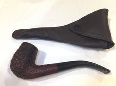 Vintage DUNHILL TANSHELL with Soft LEATHER CASE 41022 Made In England Pipe