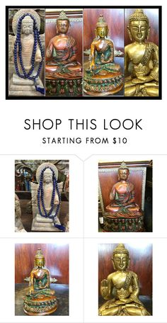 """Yoga Studio - Buddha Sculpture Decor"" by era-chandok ❤ liked on Polyvore featuring interior, interiors, interior design, home, home decor, interior decorating, buddhastatue, carvedstatue and meditationstudiodecor"
