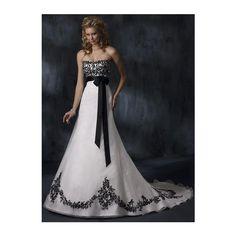 Wedding dress idea! | Nightmare Before Christmas Wedding ❤ liked on Polyvore