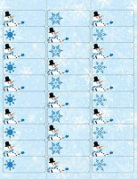 Frosty Christmas Address Labels. Label TemplatesResume TemplatesTemplates  FreeReturn ...