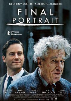 In American writer James Lord is asked to sit for a portrait by artist Alberto Giacometti, which begins their off-beat friendship and gives Lord an insight into the profundity and chaos of the artistic process. Tv Series To Watch, Movies And Series, Movies And Tv Shows, Film Movie, Cinema Movies, Alberto Giacometti, Beau Film, Netflix Movies, Hd Movies