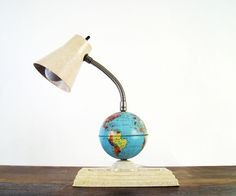 Mid Century Gooseneck Desk Lamp with Globe. $38.00, via Etsy.