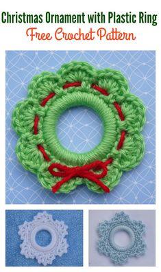 Christmas Ring Ornament Free Crochet Pattern