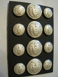 Ralph Lauren Metal Blazer Button Set White/Silver Fin 24/36 12 P. $20.00, via Etsy. Blazer Buttons, Ralph Lauren, Classy, Personalized Items, Unique Jewelry, Handmade Gifts, Metal, Silver, Gold