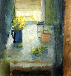 Salliann Putman (British, born 1937) Still life in Blue