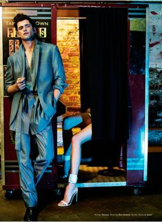Sean O'Pry lensed by Robbie Fimmano and styled by Vanessa Chow with pieces from Versace, Dior Homme, Bottega Veneta and more, for the February 2013 issue of Details magazine.