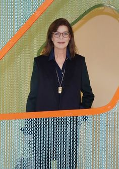 Princess Caroline of Hanover looks at an installation during her visit to the 'Construire une collection' or 'Building a Collection' exhibition on 20.01.2015.