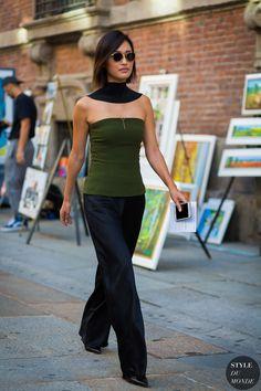 Milan SS 2017 Street Style: Nicole Warne