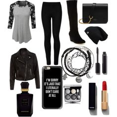 biker outfit by irelend1019 on Polyvore featuring LE3NO, New Look, Wolford, Taryn Rose, Mulberry, Casetify, Chanel and Keiko Mecheri