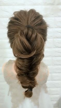 Easy Hairstyles For Long Hair, Braids For Short Hair, Ponytail Hairstyles, Diy Hairstyles, Short Hair Styles, Videos Of Hairstyles, Ponytail With Braid, Updos With Braids, Braided Wedding Hairstyles