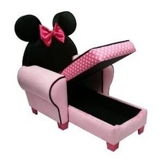 Disney Chaise with Storage Minnie Mouse - you can never, ever, ever have enough storage for a toddler/small child.