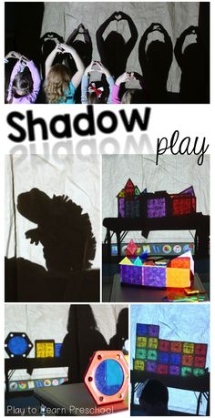 Play -- Hours of Entertainment! Shadow Play - Explore light and shadows in this easy sensory/science activity for young children.Shadow Play - Explore light and shadows in this easy sensory/science activity for young children. Shadow Theme, Shadow Play, Shadow Shadow, Kindergarten Science, Preschool Learning, Sensory Activities, Preschool Activities, Reggio Emilia, Play To Learn