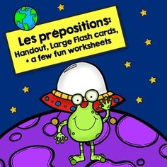 Les Prépositions: French Prepositions Handout, Flash Cards, and Worksheets Preschool Curriculum, Teaching Activities, Teaching Tools, French Teaching Resources, Teaching French, French Prepositions, French For Beginners, French Language Learning, Foreign Language
