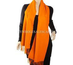 Cashmere Feel Scarf SC39-07 Color: Orange