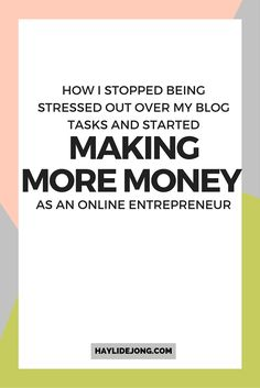Being a blogger or entrepreneur is hard work. I know that you have a ton of tasks to complete each day and even your most productive days can make you stressed out. I've put systems in place so that I can stop being overwhelmed and stressed with my blog and business and instead- start making money passively. Click through to find out how I do it (because you certainly can too)