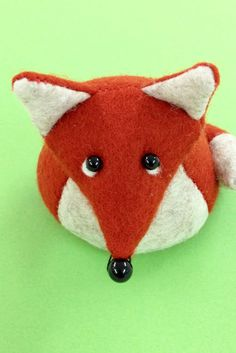 Bilberry Woods character Findlay the Fox as a cute felt paperweight.