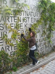 Typography wall- so cool to do with company culture verbiage… on interior or exterior courtyard wall