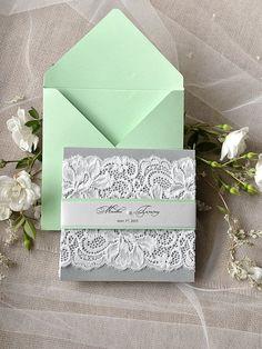 invitaciones de boda con cintas mint - Buscar con Google