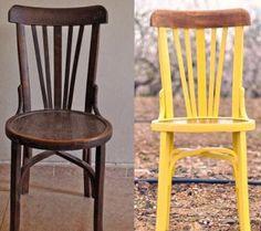 Una silla llena de color