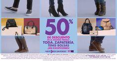 Suburbia: 50% de descuento en segunda compra de Zapatos, Tenis y Bolsas