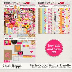 #Schoolcool #Girls Bundle by Amanda Yi, Studio Basic Designs & Two Tiny Turtles