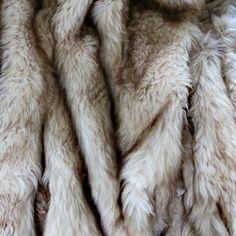 Long Hair Faux Fur Blanket | Champagne Fox