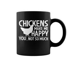 Chickens Make Me Happy You Not So Much Mug  coffee mug, papa mug, cool mugs, funny coffee mugs, coffee mug funny, mug gift, #mugs #ideas #gift #mugcoffee #coolmug