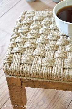 Rustic DIY Footstool   Before and After - anderson + grant