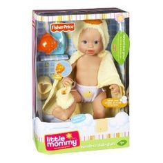 LITTLE MOMMY BABY BATH Doll Splish splash - girls can give their adorable baby doll a bath with her completely submersible body and play accessories. This sweet baby doll comes with a cozy terry hoodie towel and slippers, play bubble bath and bath toy. Just add water! Ages 2 and over.