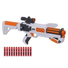 Launch into exciting Star Wars adventures with the Nerf First Order Stormtrooper Deluxe Blaster! Take aim and unleash the fury of the First Order with this blaster that has a 12-dart clip to fire a dozen darts, one at a time, without reloading. Blast them fast with slam-fire action! Stabilize... more details available at https://perfect-gifts.bestselleroutlets.com/gifts-for-holidays/toys-games/product-review-for-star-wars-nerf-episode-vii-first-order-stormtrooper-deluxe-blast