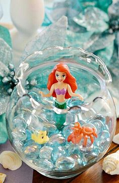 I would do this minus Ariel and add sea shells