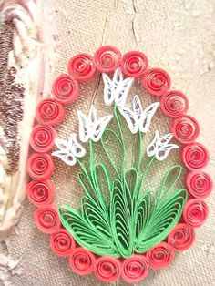 evaline - my handmade products / SAShE. Quilling Instructions, Paper Quilling Tutorial, Paper Quilling Patterns, Quilled Paper Art, Arte Quilling, Origami And Quilling, Quilling Paper Craft, Quilled Creations, Easter Crafts