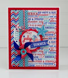 Scrapbooking Layouts, Scrapbook Cards, Star Cards, July Crafts, Cute Cards, Cards Diy, Card Tags, Homemade Cards, Fourth Of July