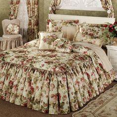 Springfield Ruffled Flounce Bedspread Bedding - like the fabric, but no ruffles.
