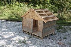 Barefoot outside: New Doghouse!
