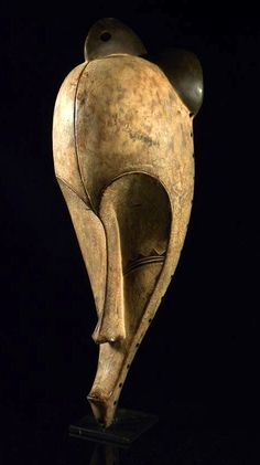 Africa | Mask from the Fang people of Gabon | Wood and pigment