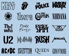Rock Band Logos Music Vinyl Wall Sticker Decal by BlackfinGraphics, $4.99