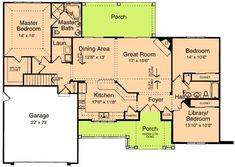 Plan Ranch, Craftsman House Plans & Home Designs - Expand Master to or x or Two Story House Plans, New House Plans, Small House Plans, House Floor Plans, Basement House Plans, Ranch House Plans, Craftsman House Plans, One Level Homes, Craftsman Ranch