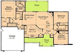 Craftsman Ranch Design - 39066ST | Craftsman, Ranch, 1st Floor Master Suite, CAD Available, Den-Office-Library-Study, PDF, Split Bedrooms | Architectural Designs