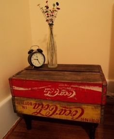 Coca-Cola End table made from old crates.  Another idea for the old pop crates that I have.